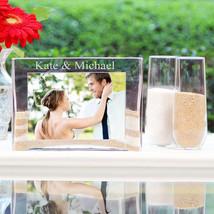 Personalized Wedding Sand Ceremony Photo Frame Vase Unity Set
