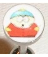 CARTMAN SOUTHPARK tongue ring LOGO barbell, 14g - $9.99
