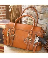 Concealed Carry Aged Brown Leather Satchel Hand... - $319.99