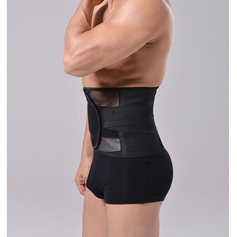 Men waist training corsets sport corset waist trainer girdle men