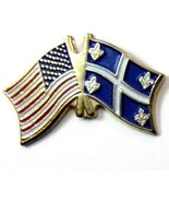 QUEBEC UNITED STATES US COMBO NATIONAL FLAG PIN... - $4.46