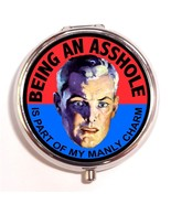 Being A-Hole Manly Charm Pill Box Case Pillbox ... - $7.43