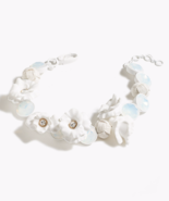 NWT $158 J Crew Floral wreath necklace White - $90.00