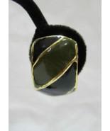 Gold Green Black Hoop Clip On Earrings Costume ... - $15.00