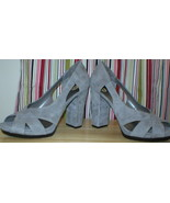 New Nine West Fatior Leather Suede Gray Pump 11... - $129.99