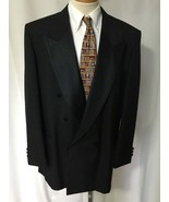 RAFFINATI Men's Black Double Breasted Tuxedo Ja... - $58.79