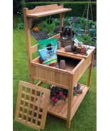 Outdoor Wooden Potting Garden Work Table Plante... - $199.95