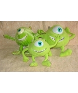 Disney Monsters Inc Lot of 3 Small Plush Mike Toys - $20.00