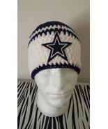 Dallas Cowboys Handmade Crochet Beanie/white - $25.00