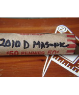 Masonic 2010 D Stamped Penny Roll Unc. New old ... - $13.99