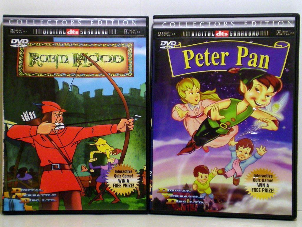 Robin Hood and Peter Pan Animated DVD Collector's Edition
