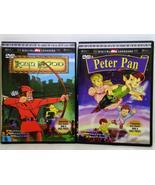 Robin Hood and Peter Pan Animated DVD Collector... - $6.95