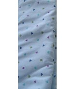 1 Yard Light Weight Blue Mini Heart Cotton Fabric - $7.00
