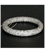 Narrow 64mm Silver Holly Filigree Fabric Bangle... - $9.98