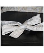 Ivory Metallic Snowflake Winter Holiday Retro W... - $9.98