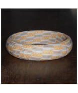 67mm Golden Yellow and Light Brown Stripe Ticki... - $9.98