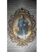 Vintage Blue Boy Metal Pictorial Wall Picture H... - $39.99