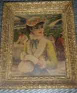 Old Vintage Pictorial Woman Wall Picture Hangin... - $39.99