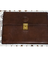 Pierre Cardin Portfolio Brown Leather Notebook ... - $29.97