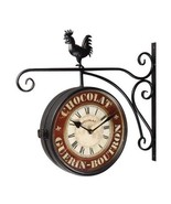 Adeco Black Iron Double-Sided Scroll & Rooster ... - $74.00