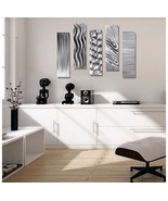 Etched Metal Modern Wall Multi Panel Accen   t ... - $193.00