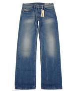 Diesel Mens Jeans LARKEE Straight Leg Faded Blu... - $94.05