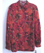 NWT Anne Klein New York Long silk shirt $225 8 ... - $79.99