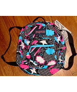 JanSport Half Pint Backpack Black / White Day Dreamin