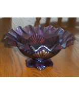 Fenton Purple Bowl Candy Dish Candle Holder - $59.99