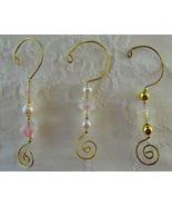 Ornament Hooks, Elegant Irridescent/Gold/Pearl ... - $9.00