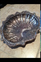Silver Plate Shell Platter On Three Feet Needs ... - $299.99