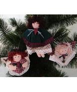 Homespun Angels, Set of 3 Soft Sculpture Countr... - $10.00