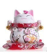 Japanese Lucky Beckoning Charm Cat Maneki Neko ... - $58.00