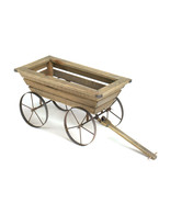 Wooden Garden Cart Planter Box - $60.00