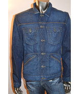 True Religion $248 Men's Jean Jacket Denim Stre... - $97.20