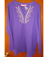 Woman Within Purple Knit Top Size L (18/20) Bea... - $24.75