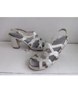 Silver Platforms Sandals Disco Heels Shoes Open... - $45.00