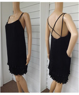 Open Back Dress Black Retro Pleated Cocktail Dr... - $45.00