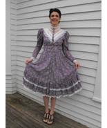 Vintage Gunne Sax Dress Floral Purple Romantic ... - $89.99