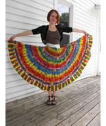 Vintage 50s Mexican Skirt Kent Wrap Hand Painte... - $185.00