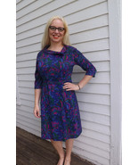 Vintage 60s Purple Print Soft Dress Berkshire M... - $39.99