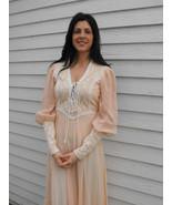 1970s Gunne Sax Dress Corset Prairie Boho Lace ... - $89.99