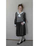 Vintage 60s Sailor Blouse Pleated Skirt Sheer B... - $39.99