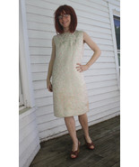 Vintage 60s Dress Sleeveless Metallic Brocade P... - $59.99