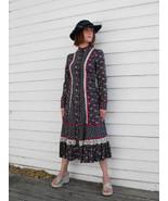 Vintage 70s Gunne Sax Dress Floral Print Blue P... - $89.99