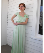 Light Green Dress Maxi Formal Mint Vintage 70s ... - $49.99