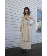 60s Lace Dress Gunne Sax Ivory Victorian Prairi... - $118.00
