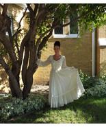 Ivory Wedding Dress Vintage Gunne Sax Floral 70... - $79.99