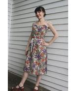 Eber Sun Dress Floral Print Summer Tropical Vin... - $44.00