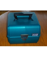 Sassaby Deluxe Teal Green Case Train Makeup Jew... - $34.97